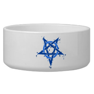 Pentagram azul comedero para mascota