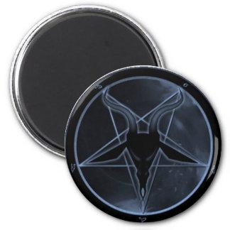 Pentagram azul iman de frigorífico