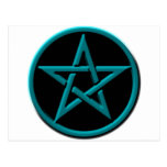 pentagram azul tarjetas postales