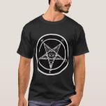 Pentagram/Baphomet de Satan Playera