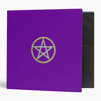Pentagram Book of Shadows Spell Book 3 Ring Binder