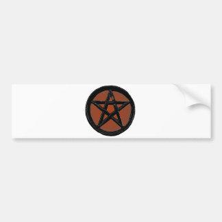 Pentagram Car Bumper Sticker