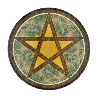 Pentagram céltico 4 del nudo - tablero del corte tabla de cortar