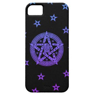 Pentagram céltico de Wiccan con las flores y las Funda Para iPhone SE/5/5s