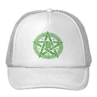 Pentagram céltico del nudo de Wiccan con el Gorras De Camionero