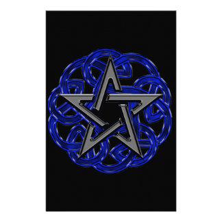 Pentagram céltico negro y azul papeleria de diseño