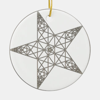 pentagram ceramic ornament