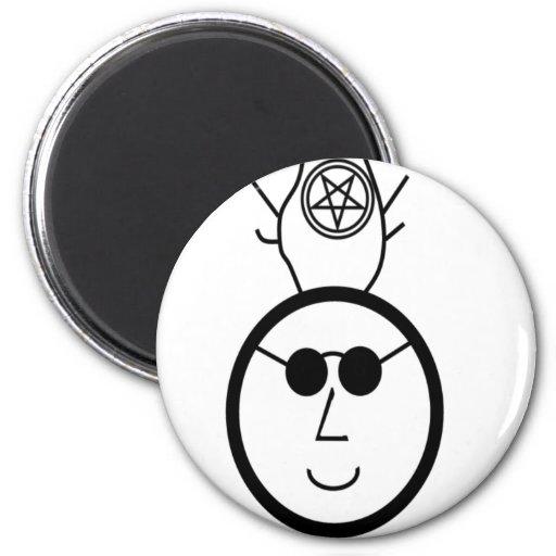Pentagram Cernnunos Imán Redondo 5 Cm