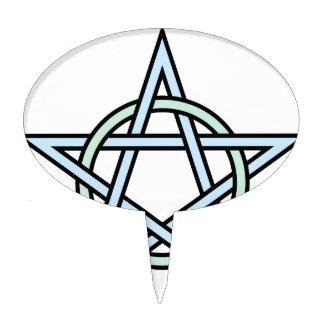 Pentagram-circle-interlaced Cake Topper
