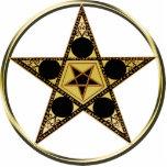 Pentagram con la estrella invertida escultura fotográfica