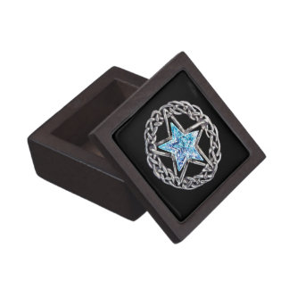 Pentagram Crystal Star Keepsake Box