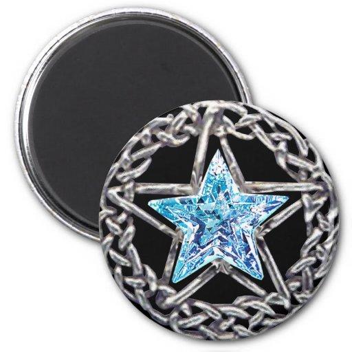Pentagram Crystal Star Magnet