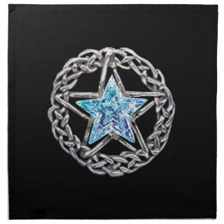 Pentagram Crystal Star Napkins