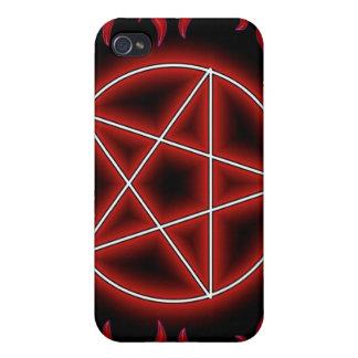 Pentagram de HotRod iPhone 4/4S Funda