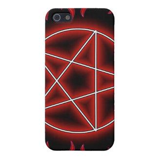 Pentagram de HotRod iPhone 5 Fundas
