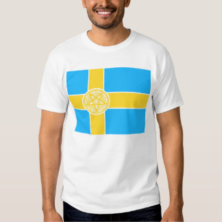 Pentagram de la bandera de Suecia Camisas