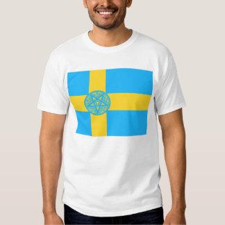 Pentagram de la bandera de Suecia Polera