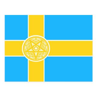 Pentagram de la bandera de Suecia Postal