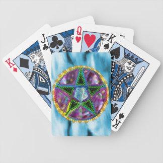 Pentagram de la bruja barajas de cartas