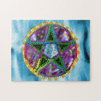 Pentagram de la bruja puzzle con fotos