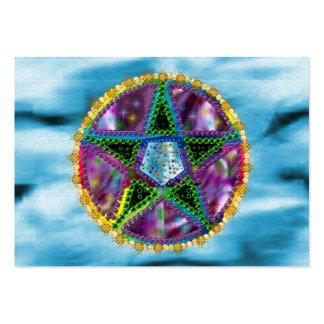Pentagram de la bruja tarjeta de visita