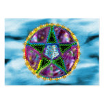 Pentagram de la bruja tarjetas de visita grandes