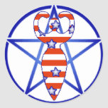 Pentagram de la diosa pegatina redonda