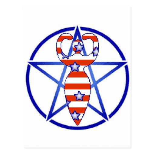 Pentagram de la diosa postal