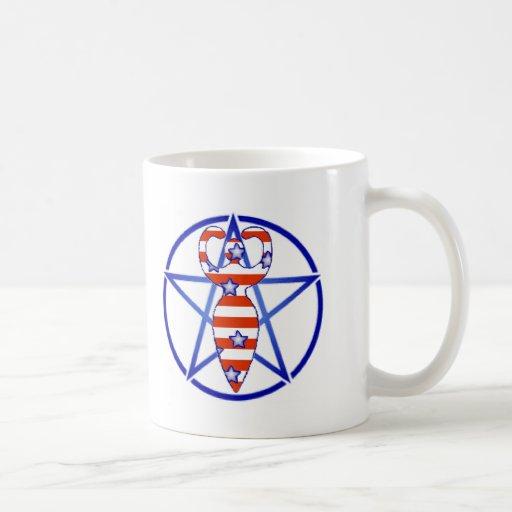 Pentagram de la diosa taza