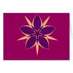 Pentagram de la flor tarjetón