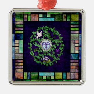 Pentagram de la hoja con la luna ornamento para reyes magos