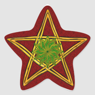 Pentagram de mimbre tejido doble #2 - pegatina