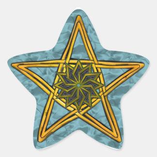 Pentagram de mimbre tejido doble #3 - pegatina