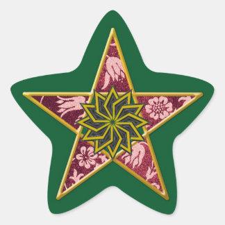 Pentagram de oro #1 - pegatina