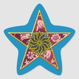 Pentagram de oro #3 - pegatina