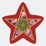 Pentagram de oro #4 - pegatina