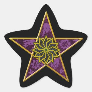 Pentagram de oro #5 - pegatina