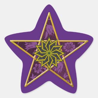 Pentagram de oro #6 - pegatina