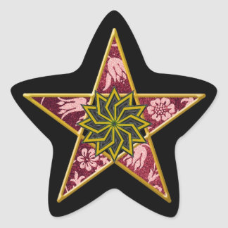 Pentagram de oro #7 - pegatina