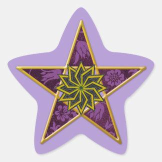 Pentagram de oro #8 - pegatina