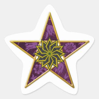 Pentagram de oro #9 - pegatina