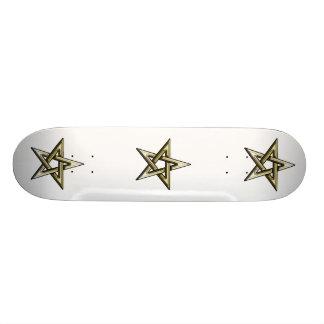 Pentagram de oro clásico patines