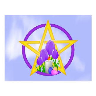 Pentagram de Ostara Postales