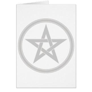 Pentagram de plata del pentáculo tarjeta de felicitación