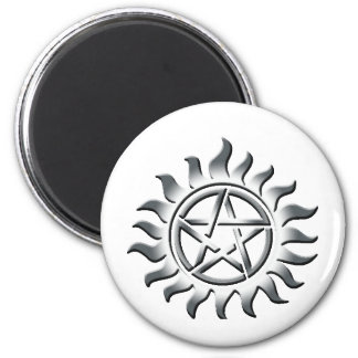 Pentagram de plata iman de frigorífico