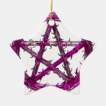 Pentagram de punta ornamento para arbol de navidad