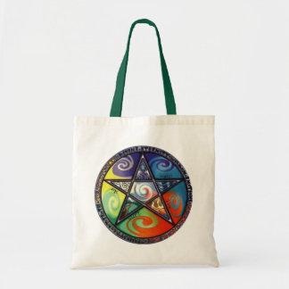 Pentagram de Wiccan Bolsa Tela Barata