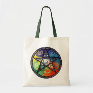 Pentagram de Wiccan Bolsa De Mano