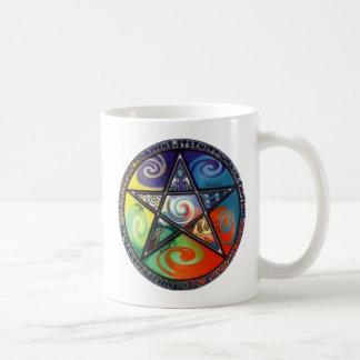 Pentagram de Wiccan Taza Clásica