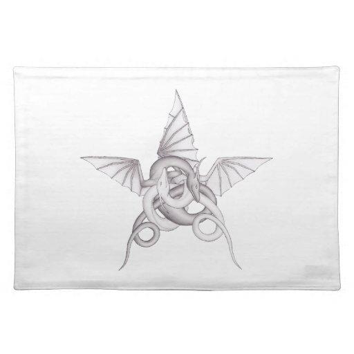Pentagram del dragón manteles
